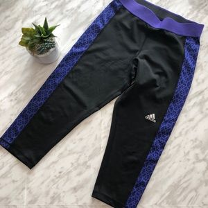 Adidas Techfit Climalite Capri Leggings Size Small